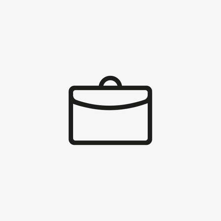 Business briefcase icon isolated in line design style. 일러스트