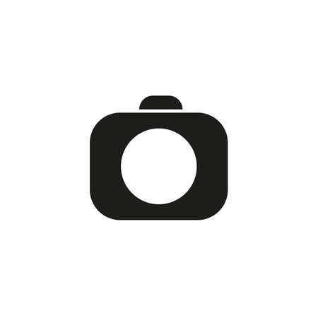 Photo camera icon isolated on white background.