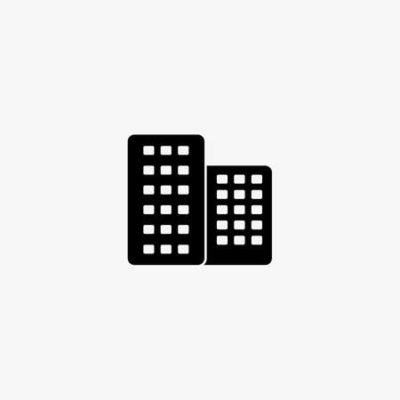 Building icon for residential or business purposes. Vector for real estate concept.