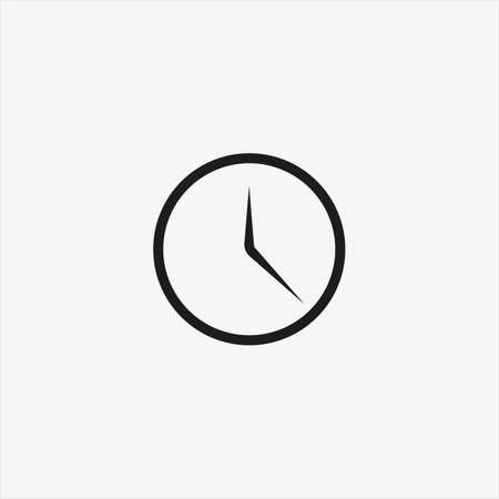 Clock icon in trendy ui style isolated on background. Clock icon page symbol for your web site design Clock icon