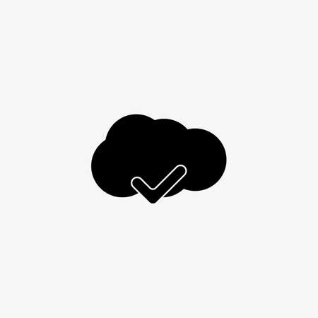 Clouds with check icon, yes icon, cancel icon,accept icon, cloud icon, complete icon, connection icon