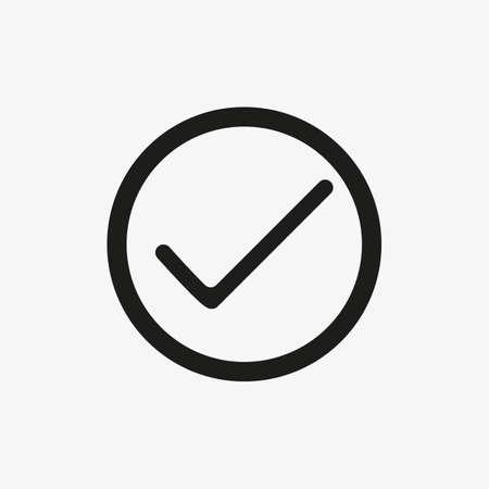 Checkbox icon vector illustration. Check mark sign.