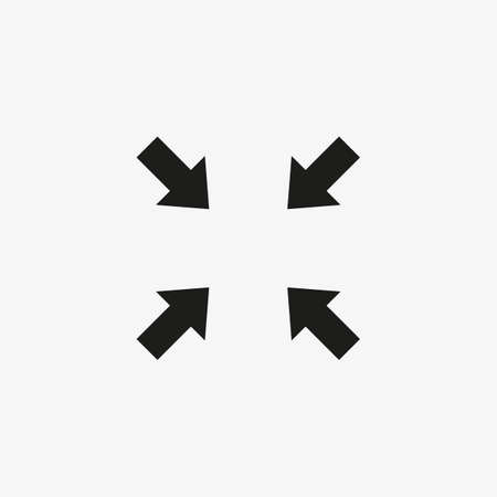 Minimized display screen vector icon. Compress symbol. 일러스트