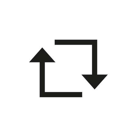 Repost icon in line style. Social media repost, retweet symbol.
