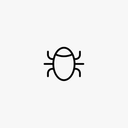 Bug vector icon. Insect. Software bug symbol, security threat. 일러스트