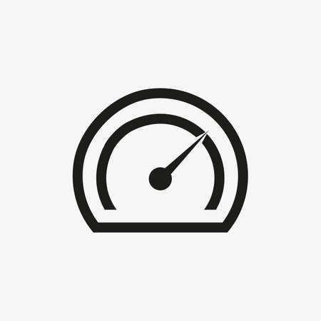 Speedometer or tachometer icon for auto websites and mobile UI design. Car dashboard symbol. 일러스트
