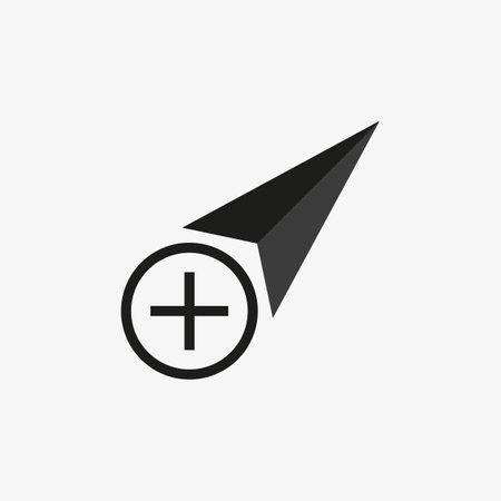 Click vector icon, cursor symbol with cancel sign. Cursor arrow icon and close, delete, remove symbol. vector illustration 일러스트