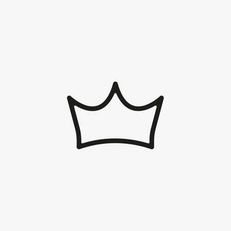 Crown icon for games UI line design concept. Premium symbol for website and mobile apps.