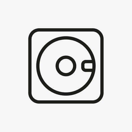 Floppy disk icon in line design style. Usage for web and mobile UI design. 일러스트