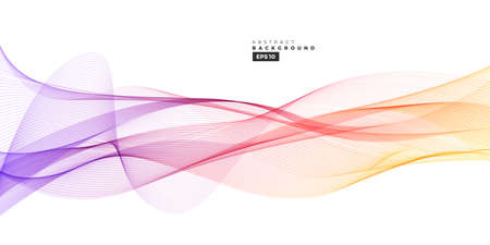 Colorful gradient abstract line wave background for multipurpose usage like brochure, cover, flyer.