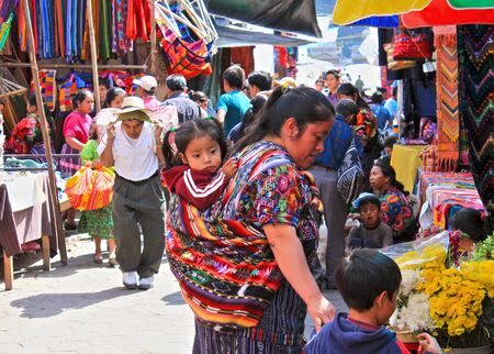 hectic: Chichicastenango Guatemala Central America which hosts one of the largest and most hectic outdoor marketplaces in Guatemala Editorial