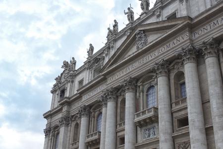 columns: Famous catholic basilica San Pietro in Vaticano Rome