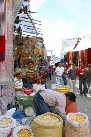 Maïs zaden op de markt in Chichicastenango Guatemala Stockfoto - 41735856