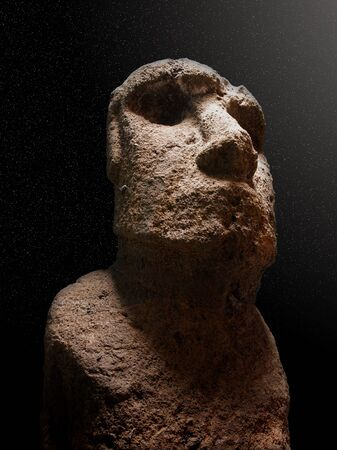 moai: estatua Moai Isla de Pascua en Chile (América del Sur)