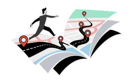 Roadmap die helpt uit te leggen hoe de dingen werken Stock Illustratie