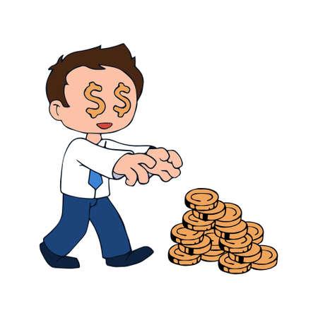 Money addicted character