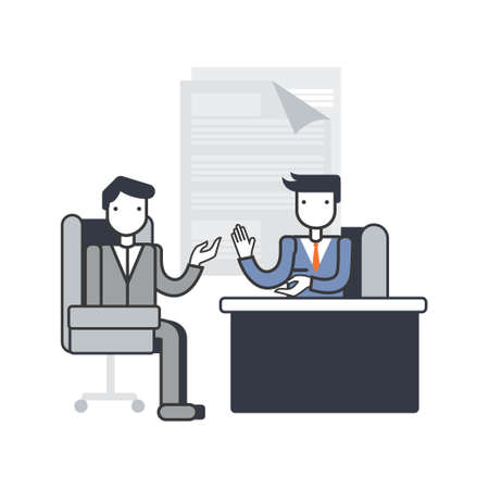Job interview, discussion