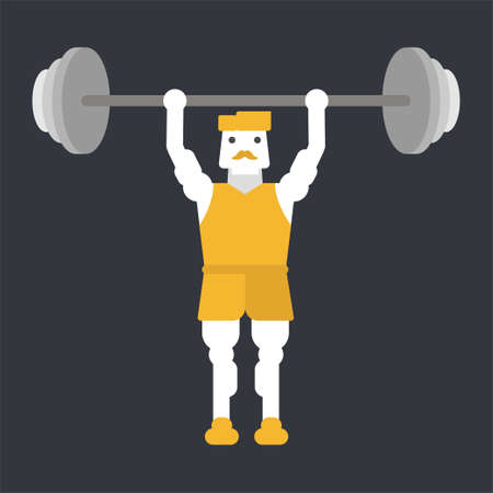 Man doing weightlifting