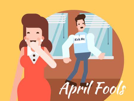 April Fools Day illustration