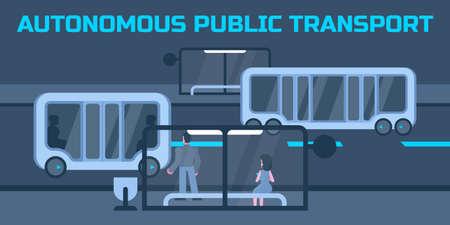 Autonomous public transport Illustration