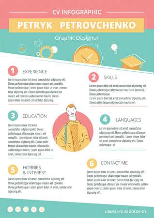 cv creative infographic template 矢量图像