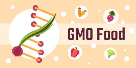 Genetically modified food vector illustration Illustration