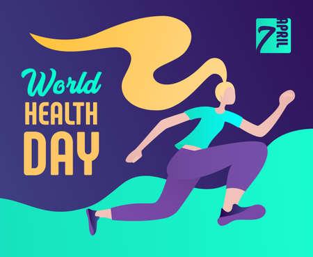 World Health Day Vektoros illusztráció