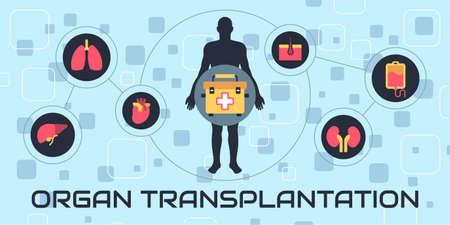 Transplantation vector illustration