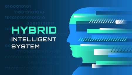 An illustration of an hybrid intelligent system Imagens - 122704990
