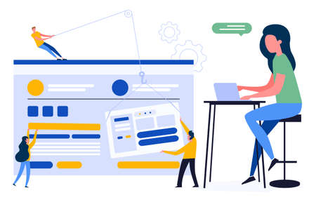 Colourful illustration of a customizable user-friendly design