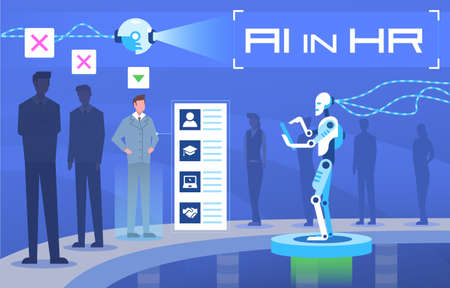 Artificial intelligence in human resources Ilustração