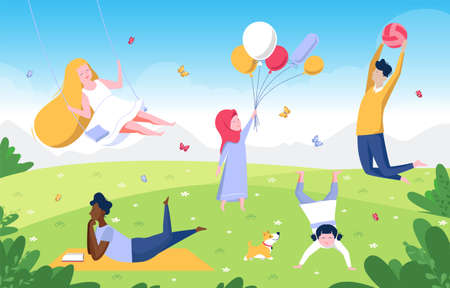 Colourful flat illustration of International Children s Day