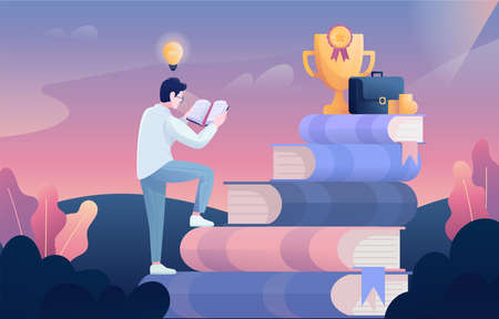 Vector illustration of a knowledge is wealth Ilustracja