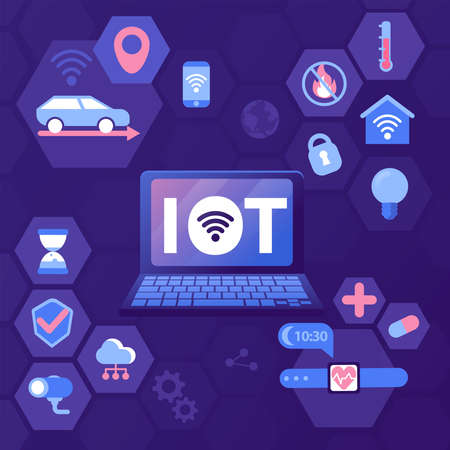 Vector illustration of the Internet of things IoT