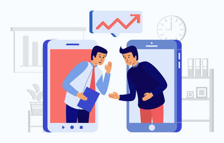 Vector illustration of insider information about a important company Ilustracja