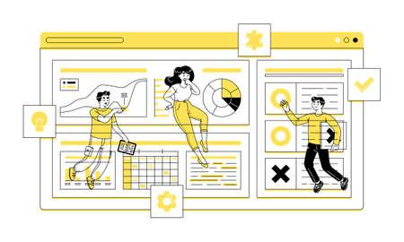 Teamwork flat vector illustration depicts teamwork is the collaborative effort Ilustracja
