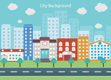City Background Illusztráció