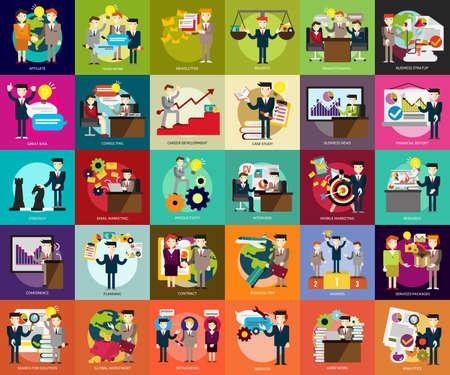 ビジネス: ビジネス人々  イラスト・ベクター素材