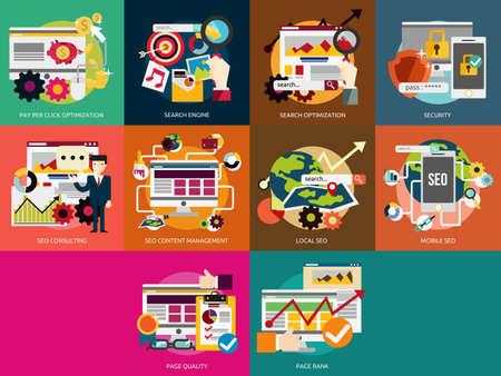 SEO und Entwicklung Vektorgrafik