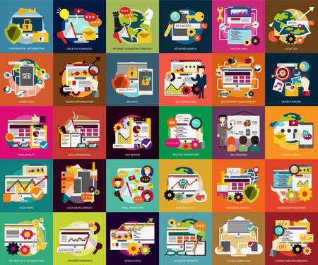 keywords link: SEO and Development Illustration