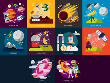 Space and Universe Ilustrace