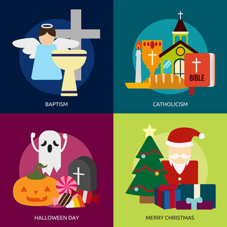 catholicism: Religion and Celebrations Illustration