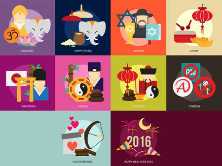 taoism: Religion and Celebrations Illustration