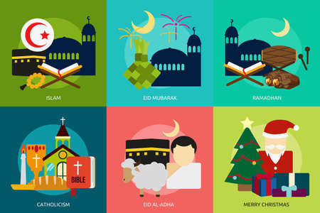 catholicism: Religion and Celebrations Illustration