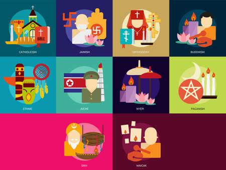 jainism: Religion and Celebrations Illustration
