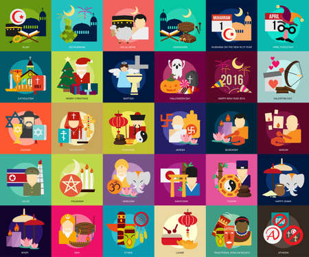 chinese new year element: Religion and Celebrations Illustration