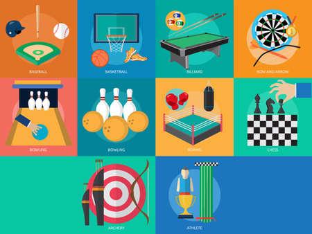sports balls: Sport and Awards Illustration