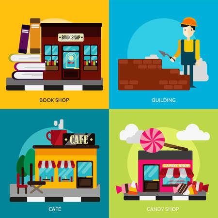 Bâtiment et Construction Banque d'images - 48093543