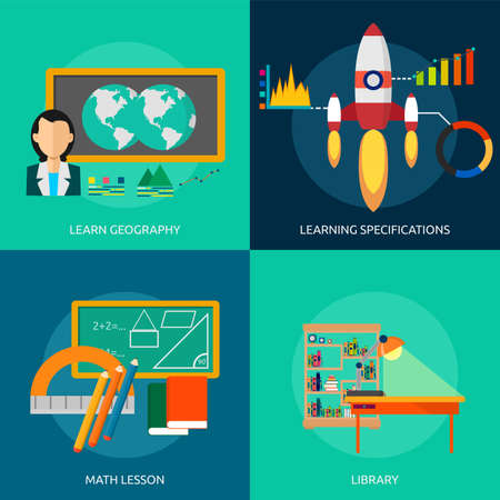 company background: Education and Science Illustration