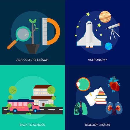back problem: Education and Science Illustration